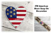 In The Hoop American Heart Snap On Decoration Embroidery Machine Design