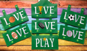 In The Hoop LIVE LOVE PLAY Wall Hanging Embroidery Machine Design 7 Piece Set