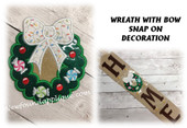 In The Hoop Wreath Snap On Decoration Embroidery Machine Design