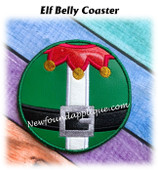 In The Hoop Elf Belt Belly Coaster Embroidery Machine Design
