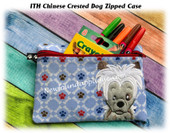 In The Hoop Chinese Crested Zipped Dog Case Embroidery Machine Design