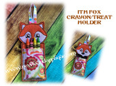 In The Hoop Fox Crayon/Treat Holder Embroidery Machine Design