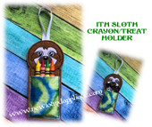 In The Hoop Sloth Crayon/Treat Holder Embroidery Machine Design