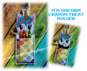 In The Hoop Unicorn Candy/Treat Holder Embroidery Machine Design