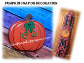 In The Hoop Pumpkin Snap On Decoration Embroidery Machine Design