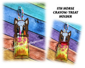 In The Hoop Horse Crayon/Treat Holder Embroidery Machine Design
