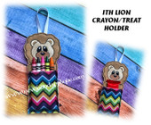 In The Hoop Lion Crayon/Treat Holder Embroidery Machine Design