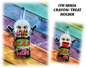 In The Hoop Ninja Crayon/Treat Holder Embroidery Machine Design