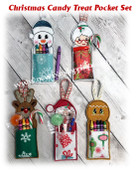 In The Hoop Christmas Crayon/Treat Holder Embroidery Machine Design Set
