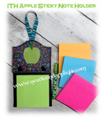 In The Hoop Apple Sticky Note Holder Embroidery Machine Design