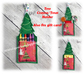 In The Hoop Tree Crayon/Treat Holder Embroidery Machine Design