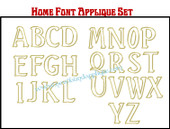 """HOME"" Font Applique Letter Embroidery Machine Design Set"