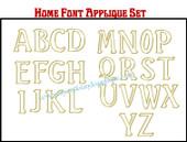 """HOME"" Font Applique Letter Embroidery Machine Design Set"