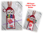 In The Hoop Santa Crayon/Treat Holder Embroidery Machine Design