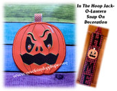In The Hoop Jack-O-Lantern Snap On Decoration Embroidery Machine Design