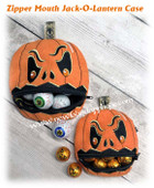 In The Hoop Zipped Mouth Jack-O-Lantern Case Embroidery Machine Design