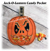 In the hoop Jack-O-Lantern Candy Pocket Embroidery Machine Design