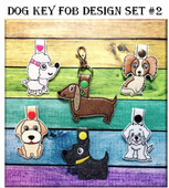 In The Hoop Toy Dog Snap Key Fob Embroidry Machine Design Set #2