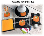 In the Hoop Pumpkin Office  Embroidery Machine Design Set