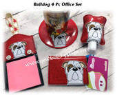 In The Hoop Bulldog Office Embroidery Machine Design Set