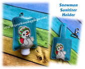 In The Hoop Snowman Sanitizer Holder Embroidery Machine Design