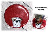 In The Hoop Bulldog Round Coaster Embriodery Machine Design