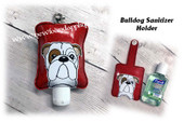 In The Hoop Bulldog Sanitizer Holder Embroidery Machine Design