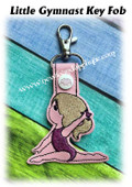 In The Hoop Little Gymnat Key Fob Embroidery Machine Design
