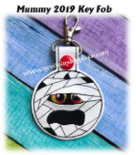 In The Hoop Mummy Key Fob 2019 Embroidery Machine Design