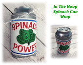 In The Hoop Spinach Can Wrap Embroidery Machine Design