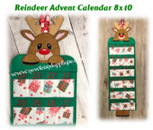 In The Hoop Reindeer Advent Calendar Embroidery Machine Design