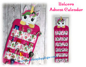 In The Hoop Unicorn Advent Calendar Embroidery Machine Design