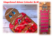 In The Hoop Gingerbread Advent Calendar Embroidery Machine Design