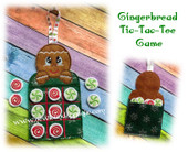 In The Hoop Gingerbread Tic-Tac-Toe Game Embroidery Machine Design