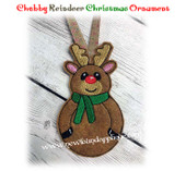 NFA Chubby Reindeer Ornament Embroidery Machine Design