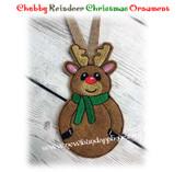NFA Chubby Reindeer Ornament Embroidery Machine Design