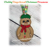 In The Hoop Chubby Gingerbread Ornament Embroidery Machine Design