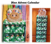 In The hoop Dino Advent Calendar Embroidery Machine Design