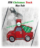 In The Hoop Christmas Truck Key Fob Embridery Machie Design