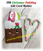 In the Hoop Christmas Pudding Gift Card Holder EMbroidery Machine Design