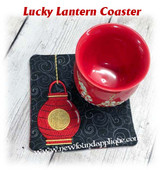 In The Hoop Lucky Chinese Lantern Coaster Embroidery Machine Design