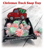 In The Hoop Christmas Truck Snap Tray Embroidery Machine Design