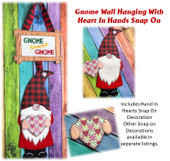 In The Hoop Gnome Sweet Gnome Wall Hanging with Heart In Hands Embroidery Machine Design