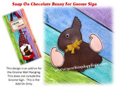 In The Hoop Chocolate Bunny Snap-On Embroidery Machine Design