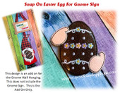 In The Hoop Easter Egg Snap On Embroidery Machine Design For Gnome Sign