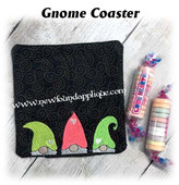 In The Hoop Gnome Coaster Embroidery Machine Design