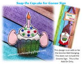 In The Hoop  Cupcake Snap On Design For Gnome Embroidery Machine Design