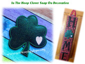 In The Hoop Clover With Heart Snap On Decoration for Home Sign Embroidery Machine Design