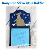 In The Hoop Kangaroo Sticky Note Holder Embroidery Machine Design