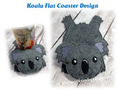 In The Hoop Koala Flat Coaster Embroidery Machine Design